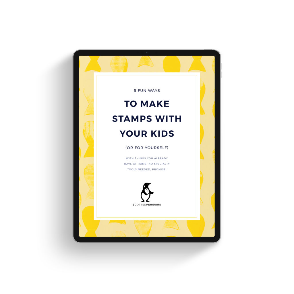 free 3dottedpenguins mini guide - stamping with kids