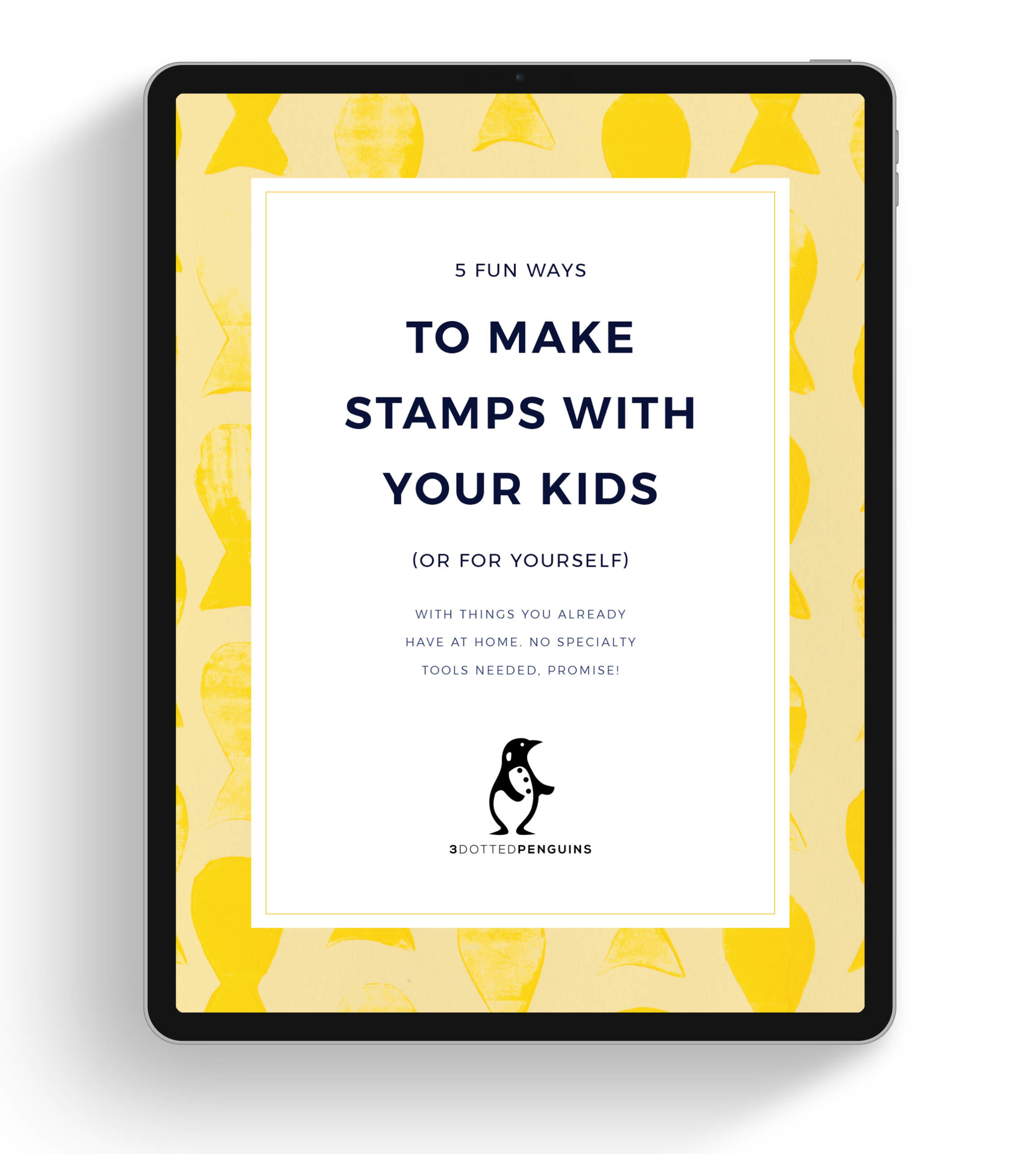 free mini guide on how to make stamps from what you have at home