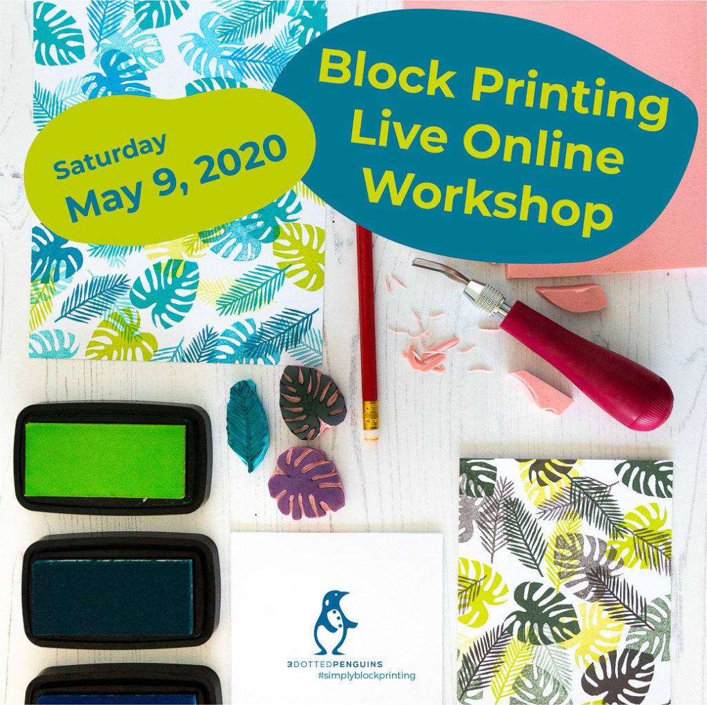 Block Printing live online workshop English