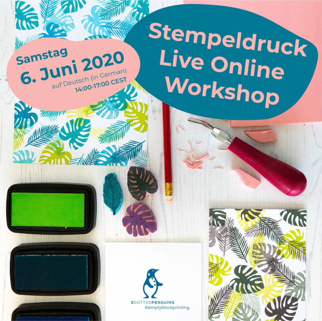 3dottedpenguins stempeldruck online workshop deutsch