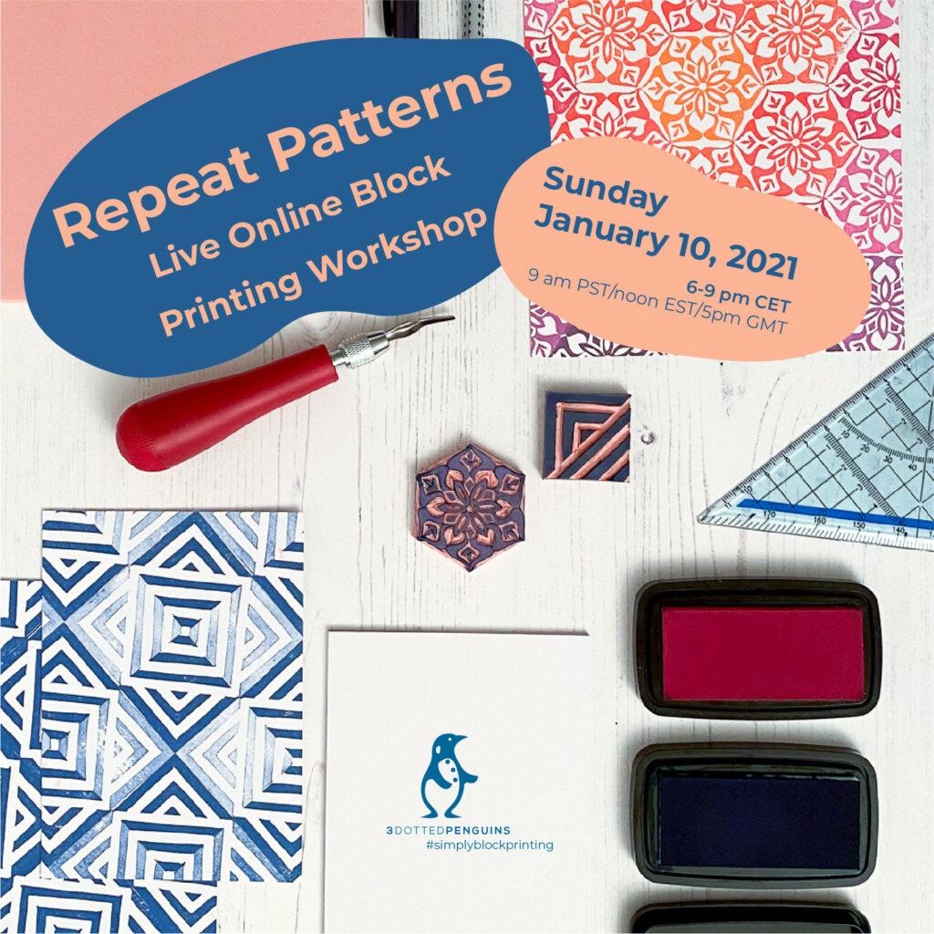 repeat pattern workshop 3dottedpenguins