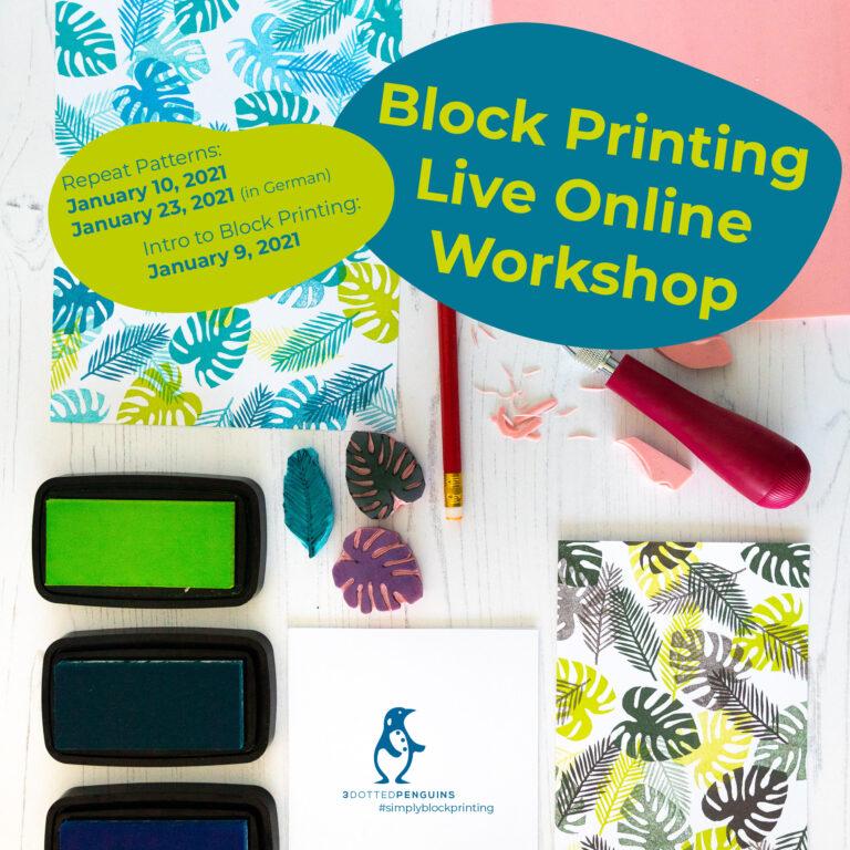 january blockprinting workshops by 3dottedpenguins