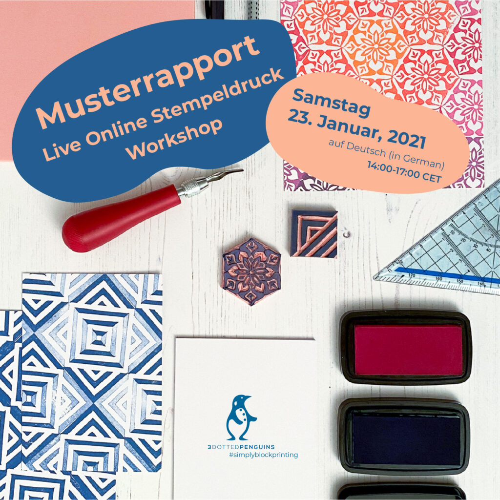 musterrapport stempeldruck workshop von 3dottedpenguins