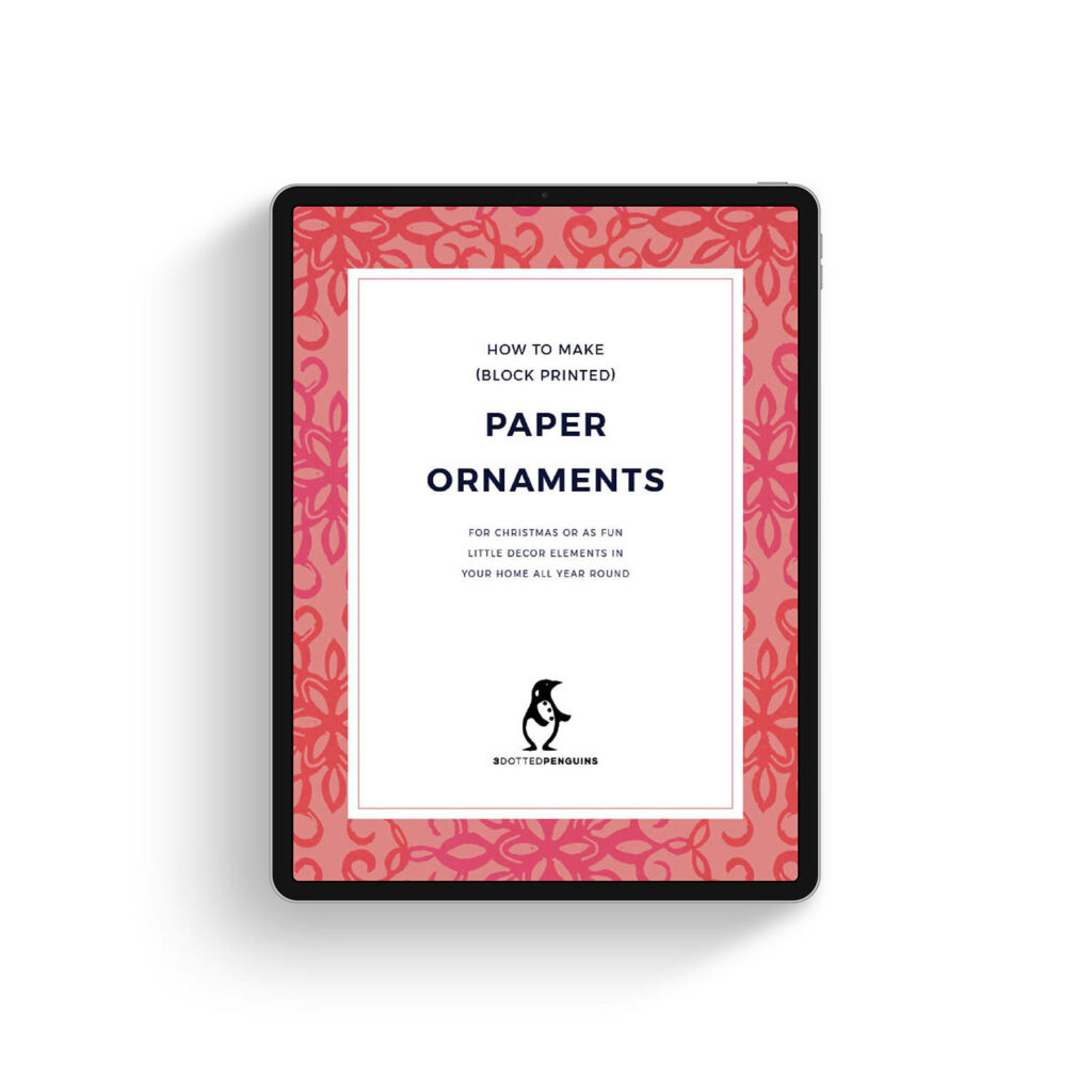 free 3dottedpenguins mini guide - paper ornaments