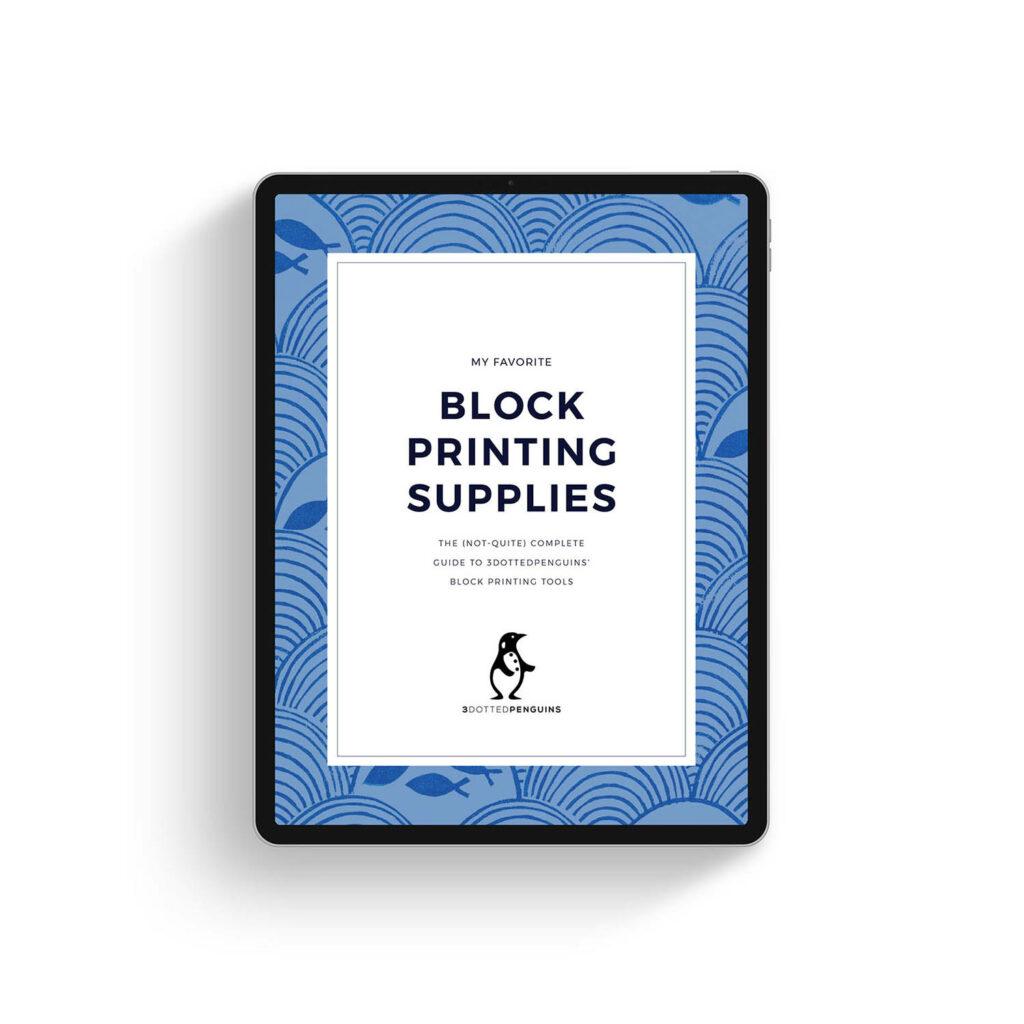 free mini guide - 3dottedpenguins Block printing supplies